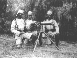 Kings African Rifles with Maxim gun