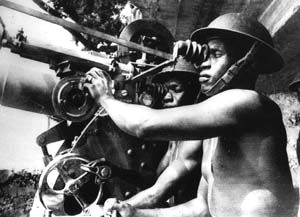 Askaris (East African soldiers) being trained for the war in Burma